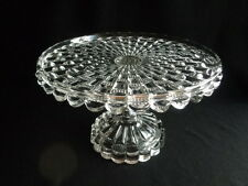 EAPG 1899 GLASS  CAKE STAND- CUT LOG- BRYCE HIGBEE  & CO