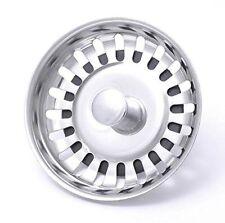 Premium Stainless Steel Kitchen Sink Basin Waste Plug Strainer / Drainer