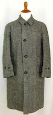 VIntage Mens Harris Tweed Winter Coat Grey Houndstooth  44 Large