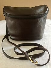 LONGCHAMP CUIR CROSSBODY BROWN PEBBLED LEATHER CAMERA BAG PURSE TOTE CARRYALL