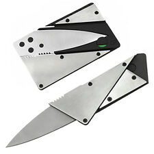 Stainless Steel Credit Card Thin Cardsharp Folding Pocket Knife Camping Great