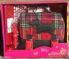 """Our Generation 18"""" Doll Plaid Laptop Computer Scottie Bag School"""