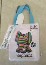 bags elephant small tote bag with book mark Bang On The Door