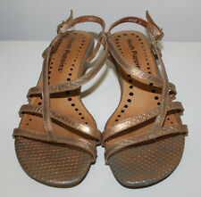 Hush Puppies 'Angle' gold strappy sandals size Eur 37 US 6.5 UK 4.5 Used