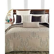 NEW Hotel Collection Emblem Beige Black QUEEN Comforter MSRP $285