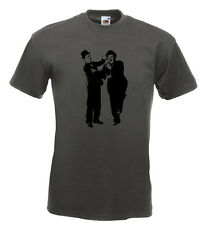 Laurel and Hardy T Shirt Keystone Cops Charlie Chaplin Stan Laurel Oliver Hardy
