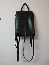 Francesco Biasia EVOLUTION Leather Small Backpack, Purse, Many Sections, Black