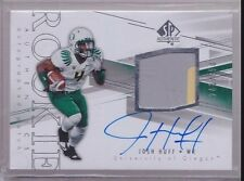 2014 UD SP Authentic Josh Huff On Card Auto 2 Color Patch Rc Serial # to 550