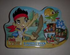 Disney Junior Jake and the Neverland Pirates 3-Puzzle Pack - In Metal Tin - NEW