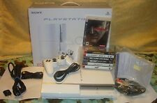 SONY PLAYSTATION 3 PS3 80GB (Ceramic White) JAPAN MGS4 + 7 GAME BUNDLE LOT