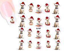 Weihnachten Christmas CHIHUAHUA NAGEL Stickers NAIL STICKERS-wasserlöslich SJ107
