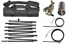 Tuner free SS Multiband 10-80 meter tactical antenna in a 16 inch bag