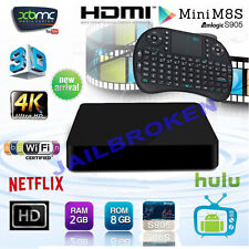 S805 Smart TV BOX Android XBMC Quad Core 8GB HD1080P Media Player Keyboard