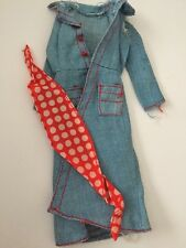 Mod Barbie Best Buy #7819 Chambray Coats And Polka Dot Scarf