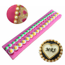 Pearl Bead Chain Silicone Fondant Mould Cupcake Cake Decorating Baking Mold 2015
