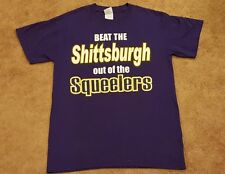 Baltimore Ravens Hardcore Fan T-Shirt - Purple Anti-Steelers Graphic - Small (S)