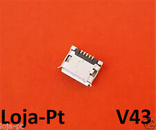V43 - Micro USB Charging Port DC Power Socket 5 Pin for Fix Phones and Tablets