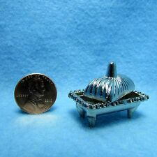 Dollhouse Miniature Pewter Chafing Dish with Lid ~ JJ1378