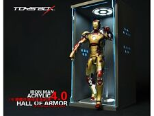 Toys Box 1PC LED Hall of Armor Dispaly Box 4.0 FOR Hot Toys 1/6 Iron Man New