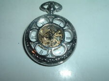 Vintage Silvertone and Glass Cover Pocket Watch in Gift Box, WORKS