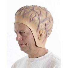 ALIEN HEADPIECE WIG Cap Mask Space Man Funny Rubber Martian Brain Bald Head Prop