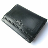 "Guido Vietri ladies leather wallet purse black  5.5"" x 4"""