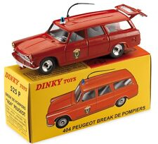 DINKY NOEL 2016 ATLAS PEUGEOT 404 BREAK POMPIERS PARIS REF 525 P ROUGE 1/43 BOX