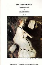 Six Impromptus For Solo Piano Jean Sibelius Op. 5 Masters Music Publications