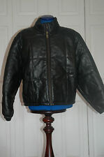 BNWT AMI of London Sz L Padded Soft Leather quilted Thick bomber Coat Jacket
