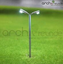 2x Modello Lampada da strada con 2 Lampadine 3,5cm Modellino ferrovia Scala Z 1: