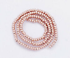 Karen hill tribe Rose Gold  Vermeil Style  150 Solid Seed Beads 1.5 mm.