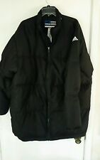 Adidas Mens Down Team  Athlete Coat Size Large