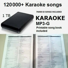 Karaoke USB 1TB Hard Drive 120000 All Styles Songs 76000 DJ MP3 English Spanish