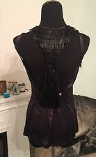 Patricia Pepe H&M Silk Beaded Top NWOT