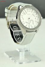 FREE Ship USA Ladies Watch Prime GUESS Silver Leather Women New G75960L1