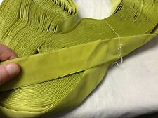 """59 Yards 1 1/2""""  Vintage FRENCH VELVET Ribbon Rayon Made in France Lime Green"""
