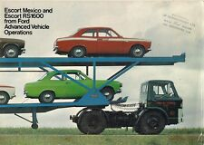 Ford Escort Mexico & RS 1600 Mk1 1971-72 UK Market Sales Brochure