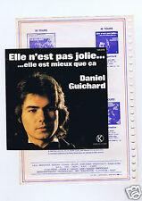 45 RPM SP DANIEL GUICHARD ELLE N'EST PAS JOLIE + FEUILLE BARCLAY