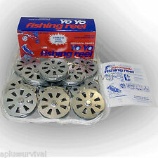 Lot of 12 Mechanical Fishing Snare Reel Yo Yo Hunting