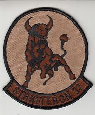 VFA-37 RAGIN' BULLS DESERT COMMAND CHEST PATCH