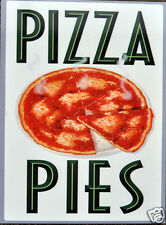 Funny Retro Placa De Metal: Pizza Empanadas ad/sign