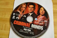 Criminal Minds First Season 1 Disc 4 Replacement DVD Disc Only