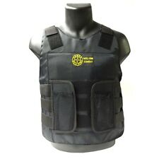 Halloween Costume SWAT TEAM Security POLICE FBI CIA Combat Assault PROP Vest BLK