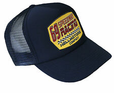 Speedway trucker Mesh Cap Hot Rod 69 Navy v8 US Car Basecap Berretto Old School CAPPELLO