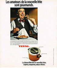 PUBLICITE ADVERTISING 084  1977   TEFFAL pour les amateurs de la nouvelle frite