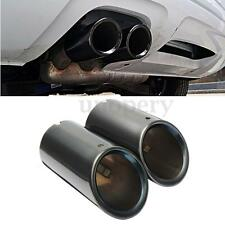 Pair S-line Black Exhaust Muffler Tail Pipe Tips For Audi A4 B8 Q5 1.8T 2.0T New