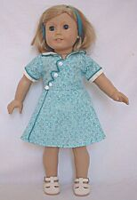"""Doll Clothes AG 18"""" Kits Birthday Dress Green White Made For American Girl Dolls"""