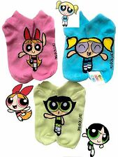 CUTE FUNNY LADIES THE POWERPUFF GIRLS SOCKS 3 X ONE SIZE NEW FASHION SEASON
