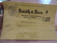 1910 BILLHEAD SMITH Cracker White River Junction Vermont VT