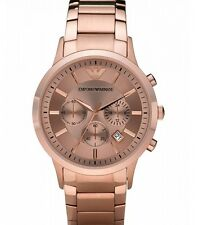 EMPORIO ARMANI ROSE GOLD CHRONOGRAPH STAINLESS STEEL MEN WATCH AR2452